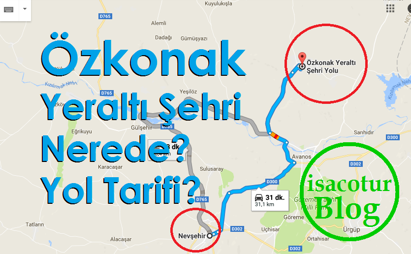 Özkonak Yeraltı Şehri Nerede Yol Tarifi?