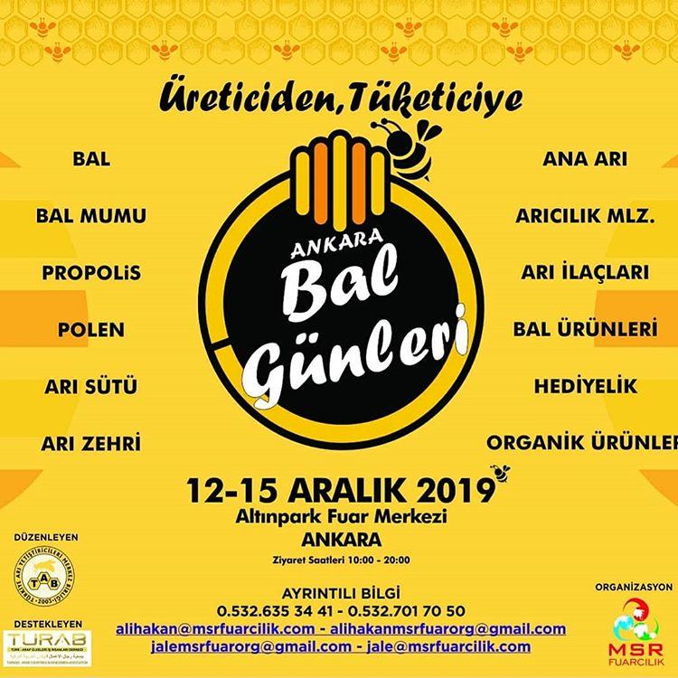 Üreticiden Tüketiciye Ankara Bal Günleri 2019