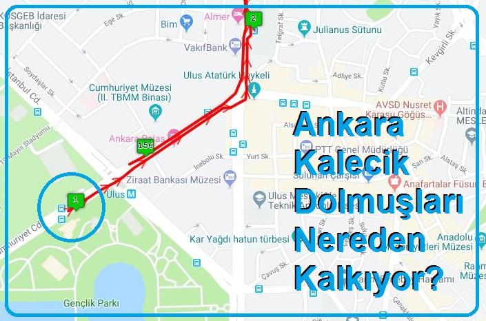 Ankara Kalecik Dolmuşları Nereden Kalkıyor?