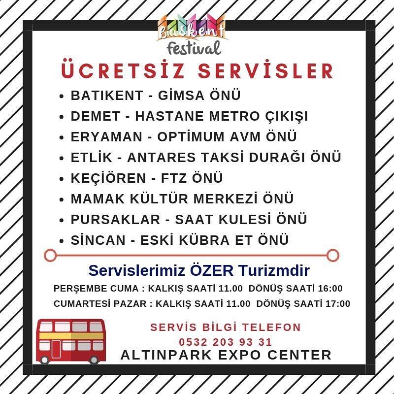 BAŞKENT MODA VE ALIŞVERİŞ FESTİVALİ 2019 ÜCRETSİZ SERVİSLER