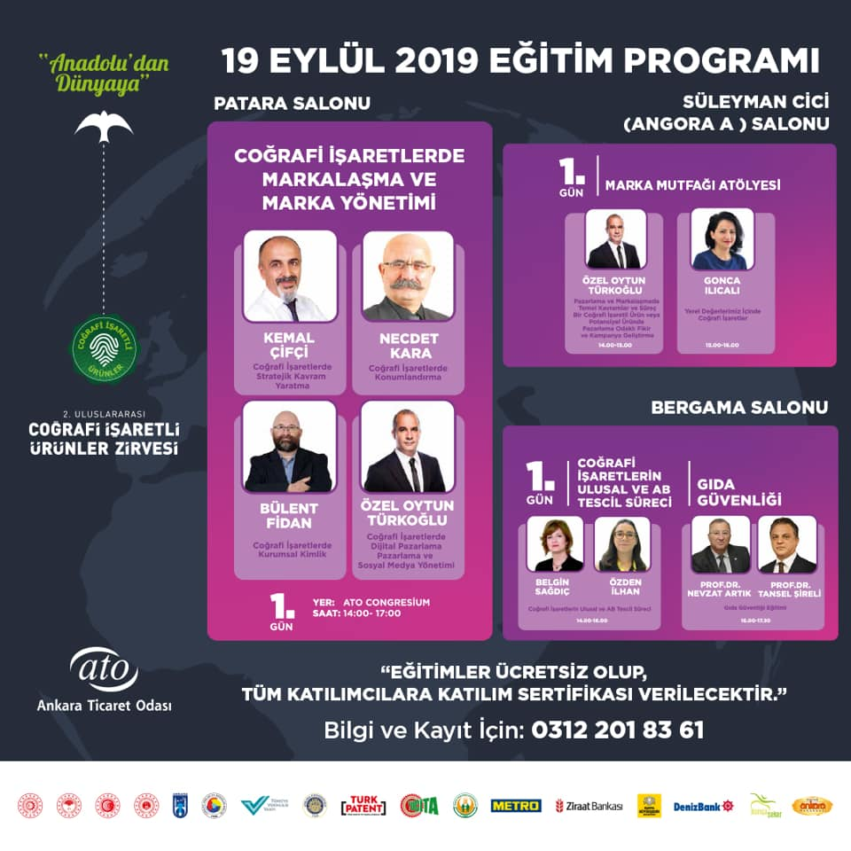 2.Uluslararası Coğrafi İşaretli Ürünler Zirvesi 2019
