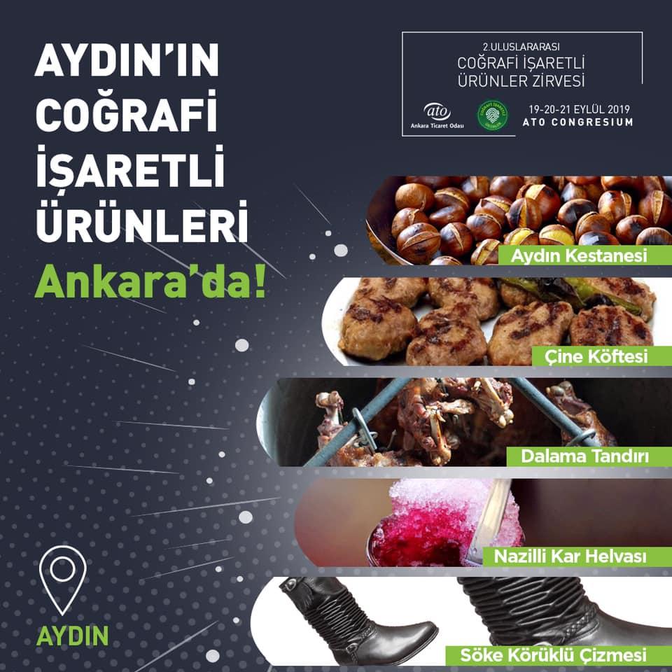 Ege'nin en güzel illerinden biri olan Aydın'ın kendine özgü ürünleri, 2. Uluslararası Coğrafi İşaretli Ürünler Zirvesi'nde sizleri bekliyor.
