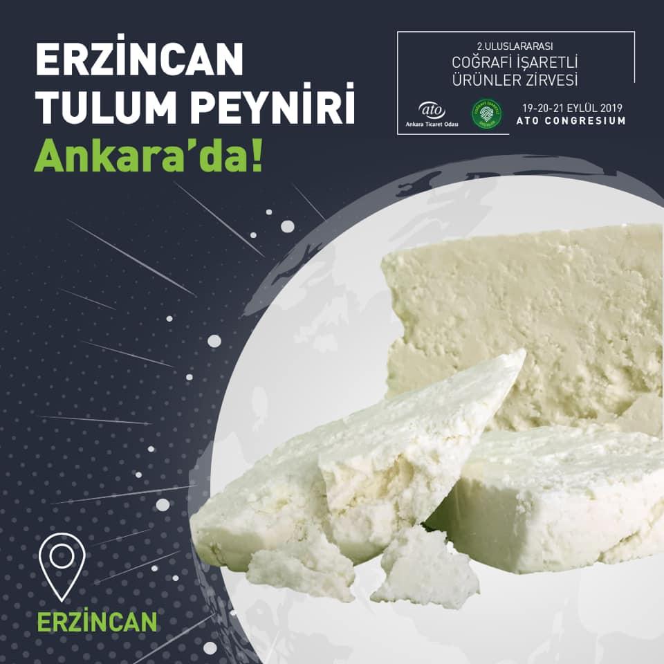 Erzincan Tulum Peyniri, 2. Uluslararası Coğrafi İşaretli Ürünler Zirvesi'nde