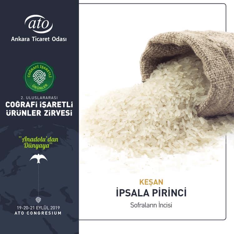 Coğrafi İşaretli Ürünler Zirvesi ipsala pirinci