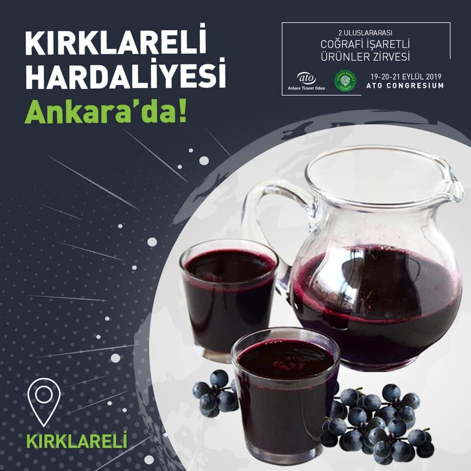 Kırklareli'ye özgü bir içecek olan Kırklareli Hardaliyesi, 2. Coğrafi İşaretli Ürünler Zirvesi ile dünyaya açılıyor
