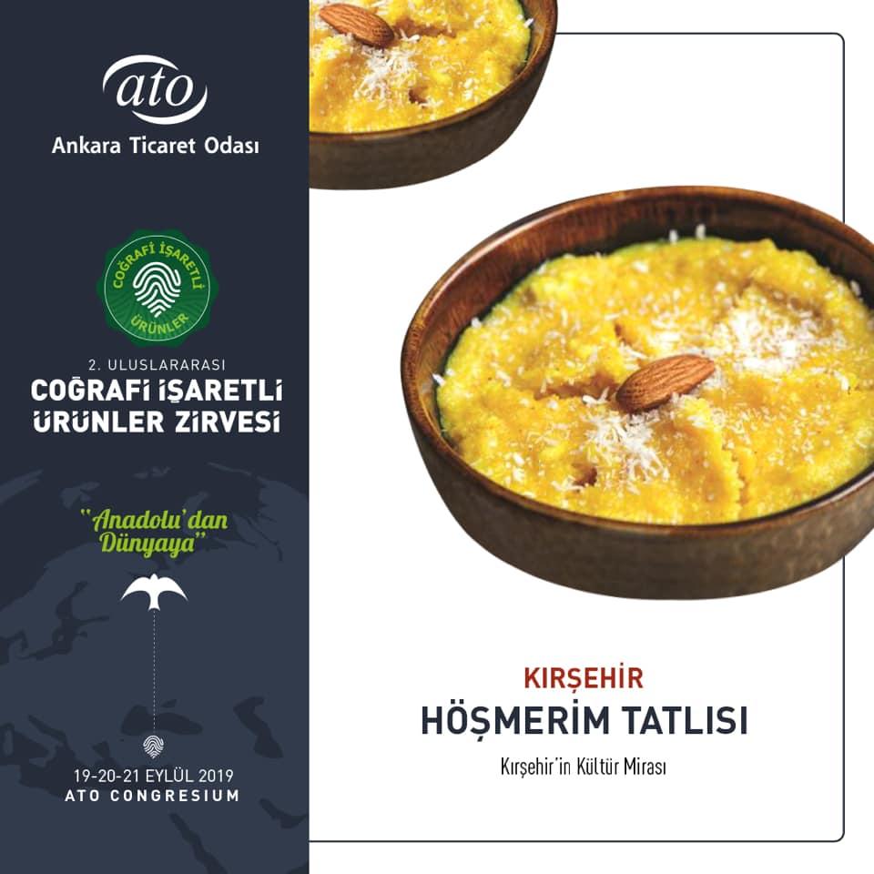 Kırşehir Höşmerim Tatlısı, 2. Uluslararası Coğrafi İşaretli Ürünler Zirvesi'nde