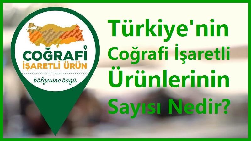 Türkiye'nin Coğrafi İşaretli Ürünlerinin Sayısı Nedir?