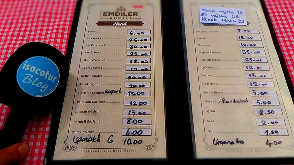 Altınköy Emdiler Konağı Menüsü ve Kahvaltı Fiyatları