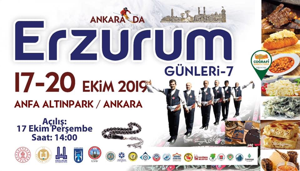 7.Erzurum Tanıtım Günleri 2019 Ankara Etkinlik Takvimi