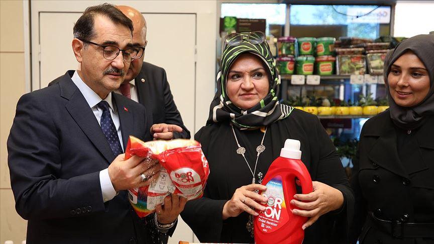 Enerji ve Tabii Kaynaklar Bakanı Fatih Dönmez Boron Deterjan aldı