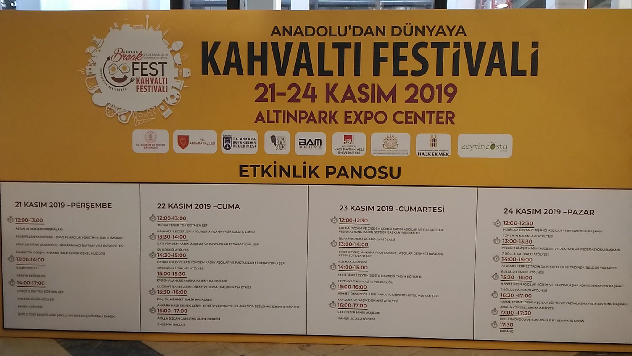 Ankara Kahvaltı Festivali 2019 Etkinlik Programı