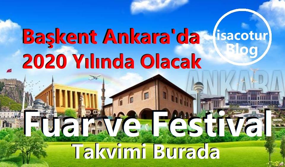Ankara Fuar ve Festival Takvimi 2020