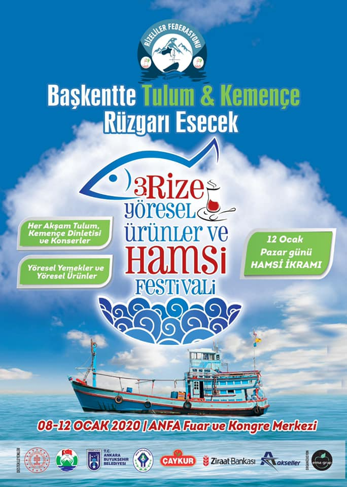 3.Rize Hamsi Günleri Festivali 2020 Ankara