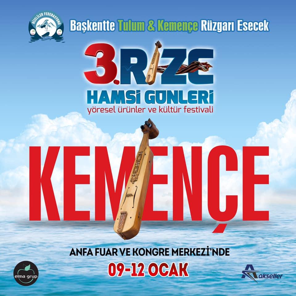 3. Rize Tanıtım Günleri Festivali 2020 Ankara Konserlerleri KEMENÇE
