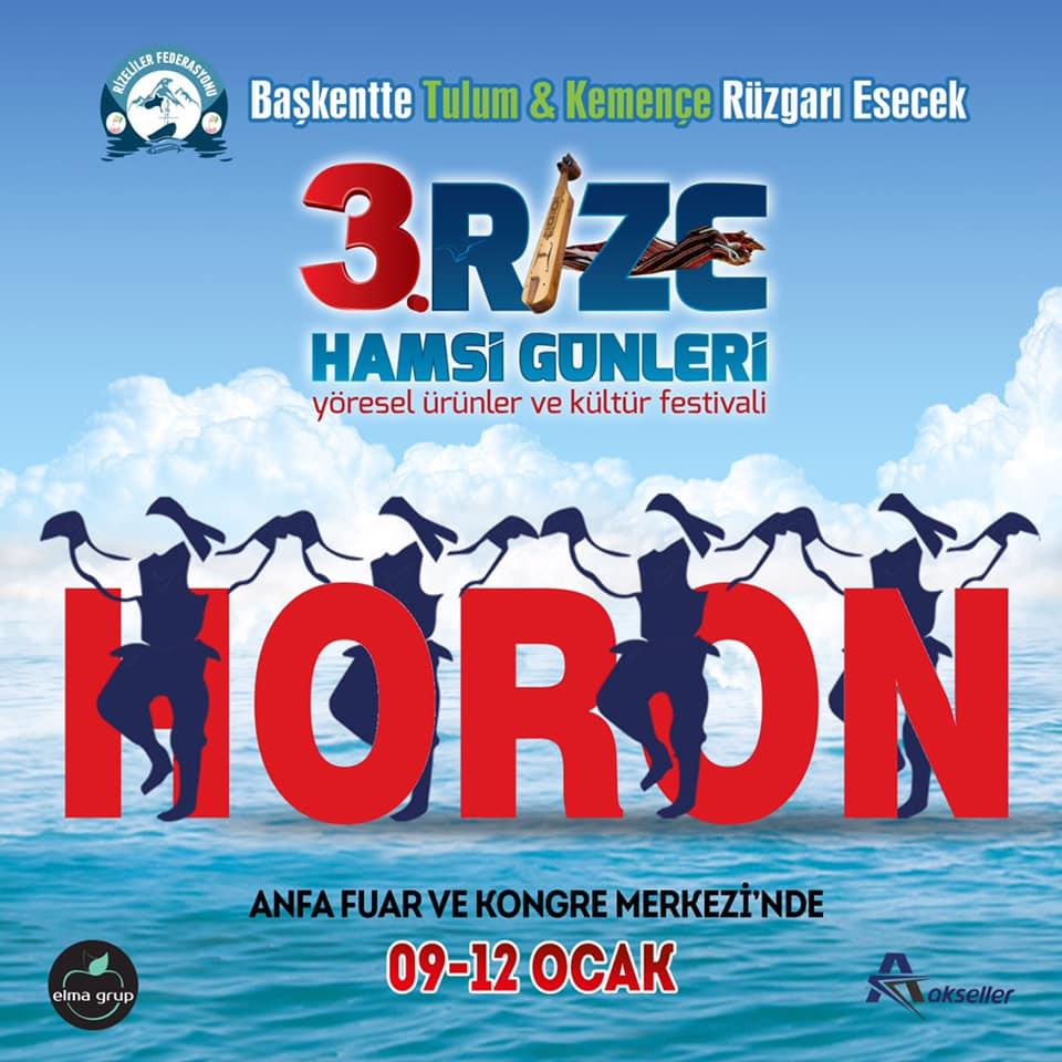3. Rize Tanıtım Günleri Festivali 2020 Ankara Konserlerleri HORON