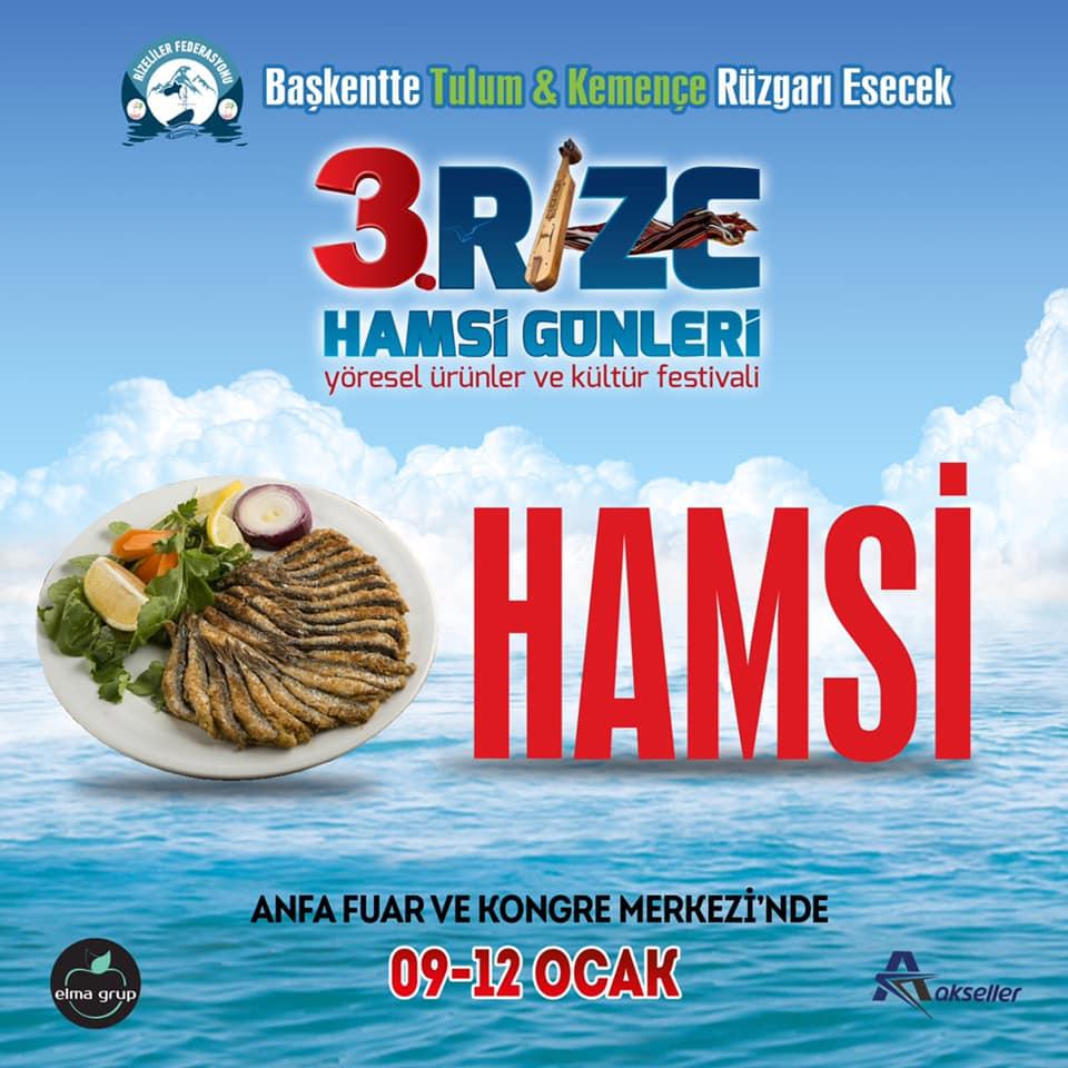 3. Rize Tanıtım Günleri Festivali 2020 Ankara Konserlerleri HAMSİ