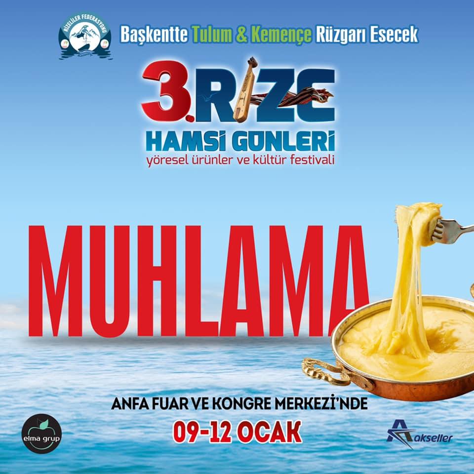 3. Rize Tanıtım Günleri Festivali 2020 Ankara Konserlerleri MUHLAMA
