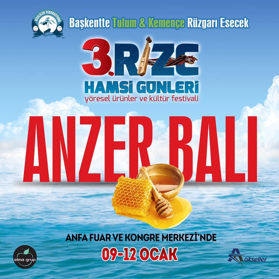 3. Rize Tanıtım Günleri Festivali 2020 Ankara Konserlerleri ANZER BALI