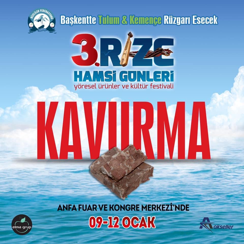 3. Rize Tanıtım Günleri Festivali 2020 Ankara Konserlerleri KAVURMA