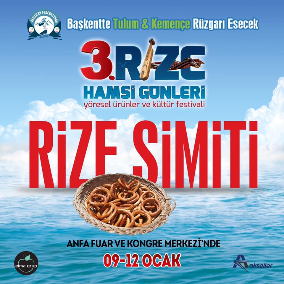 3. Rize Tanıtım Günleri Festivali 2020 Ankara Konserlerleri RİZE SİMİTİ