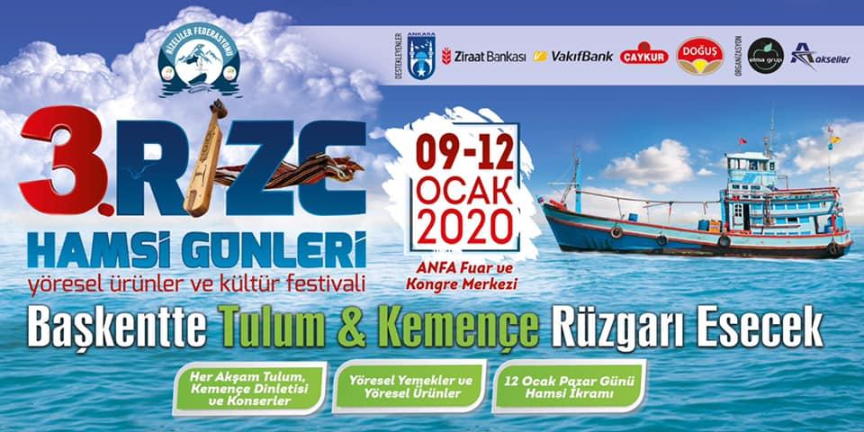 3. Rize Hamsi Günleri Festivali 2020 Ankara