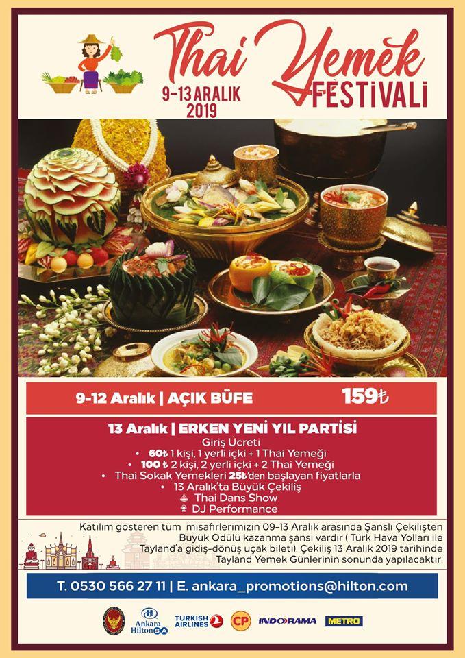 Tayland Yemek Festivali 09-13 Aralık 2019 Ankara HiltonSA