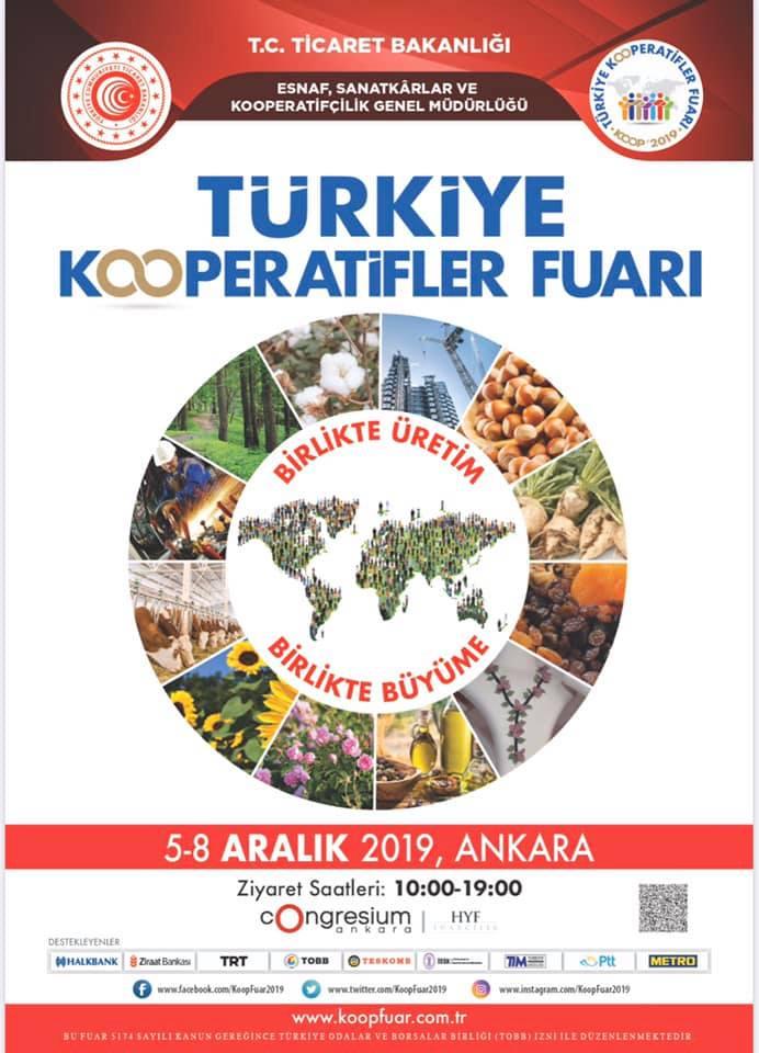 Türkiye Kooperatifler Fuarı 2019 Ziyaret Saatleri