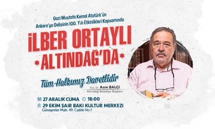 İlber Ortaylı, 27 Aralık 2019 Ankara Altındağ'da