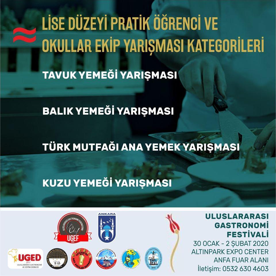 Uluslararası Gastronomi Festivali Ankara 2020