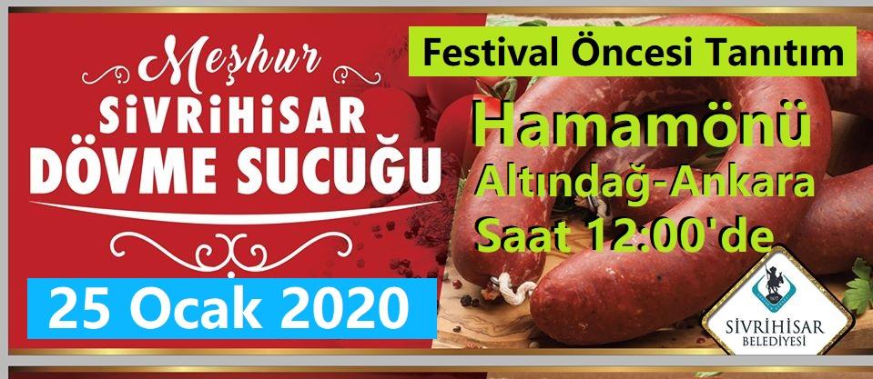 Sivrihisar Dövme Sucuk Festivali 25 Ocak 2020 Hamamönünde