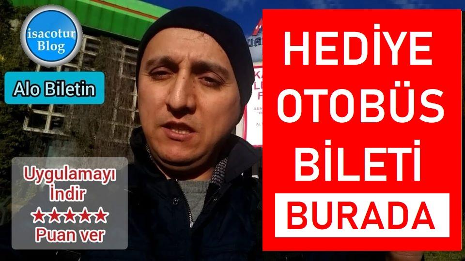"""Hediye Otobüs Biletiniz """"ALO BİLETİN"""" den"""