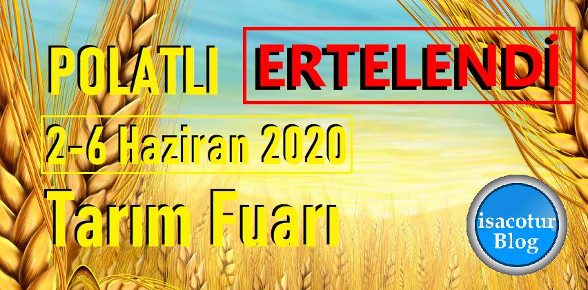 Polatlı Tarım Fuarı 2020 Ertelendi