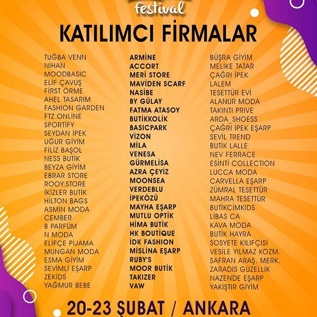 Başkent Moda ve Alışveriş Festivali 2020 Katılımcı Firmalar