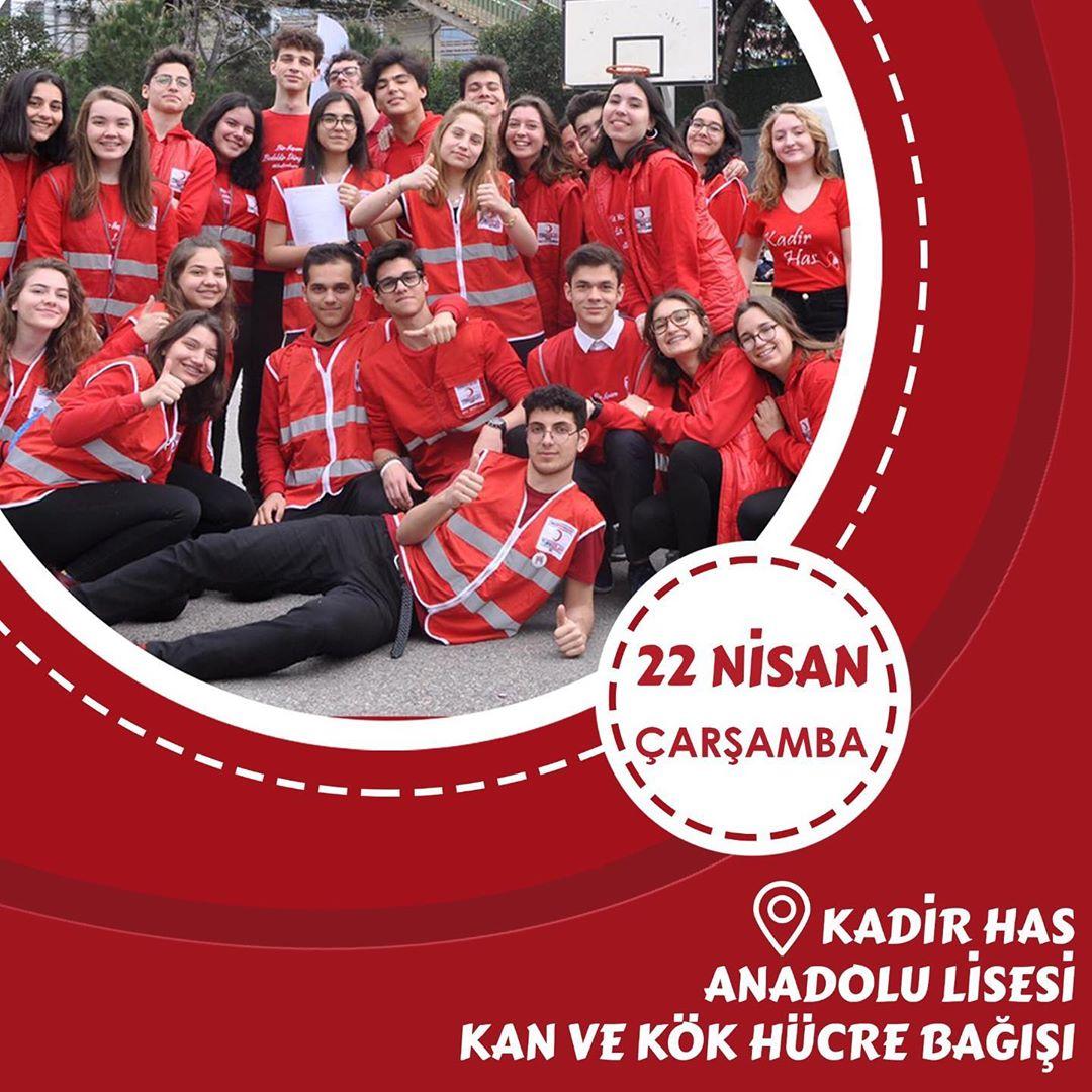 5. Geleneksel Kadir Has Anadolu Lisesi Kan ve Kök Hücre Bağışı Kampanyası