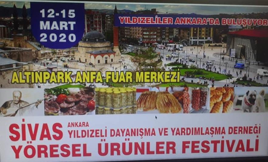 Sivas Yıldızeliler Dayanışma ve Yardımlaşma Derneği Yöresel Ürünler Festivali Ankara Altınpark