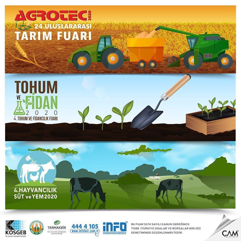 24.AGROTEC Tarım Fuarı, 4.Hayvancılık Süt ve Yem Fuarı, 4.Tohum ve Fidancılık Fuarı