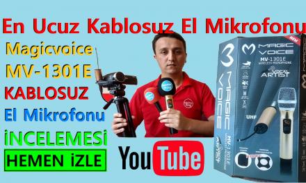 Magicvoice MV-1301E Kablosuz El Mikrofonu