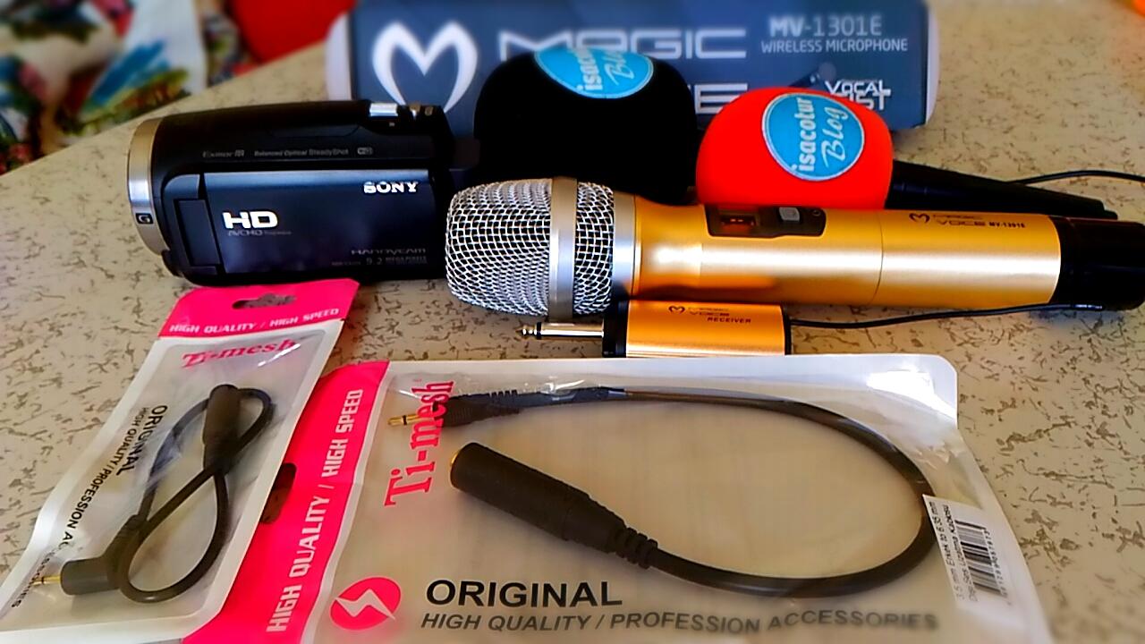 Magicvoice MV-1301E Kablosuz El Mikrofonu Ti-mesh 3.5 mm Erkek to 6.5 mm Dişi Dönüştürü Jak Kablosu 30 cm