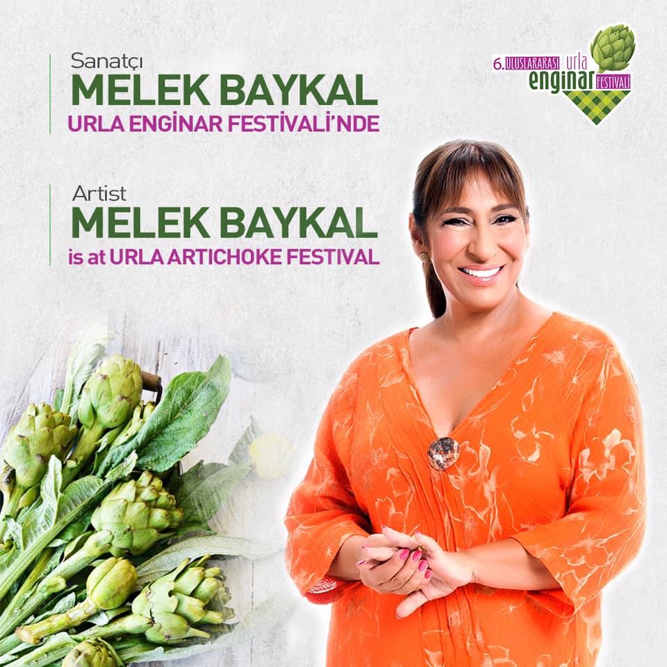Tiyatro, dizi ve sinema oyuncusu Melek Baykal 6. Uluslararası Urla Enginar Festivali'nde