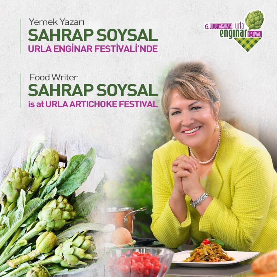 Türkiye'nin sevilen yemek yazarı Sahrap Soysal 6. Uluslararası Urla Enginar Festivali'nde