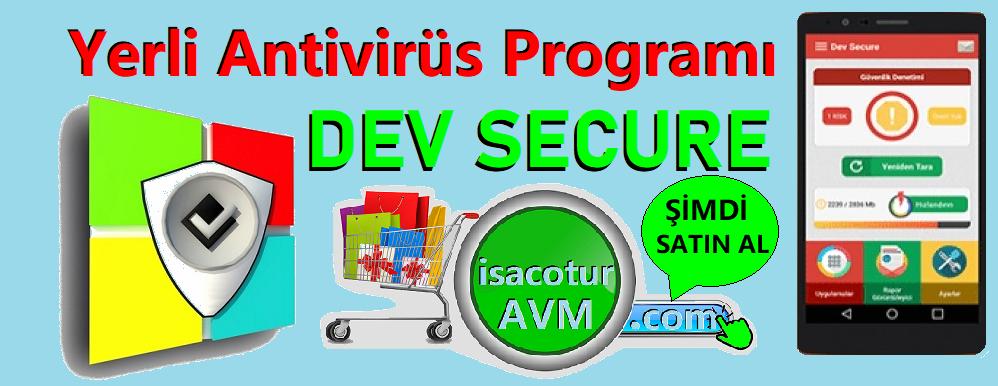 Yerli Antivirüs Programı DevSecure isacotur Avm'de