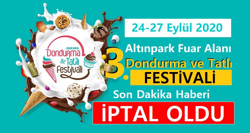 3.Uluslararası Dondurma ve Tatlı Festivali Ankara İptal Oldu