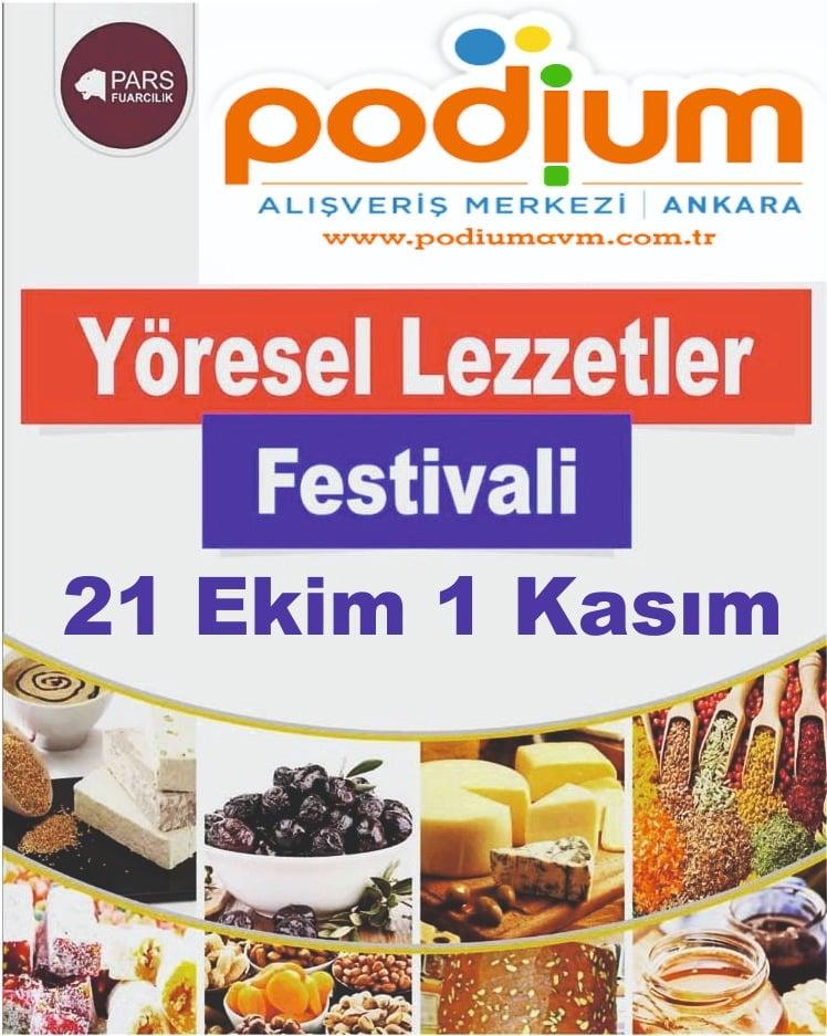 Yöresel Lezzetler Festivali Podium Avm