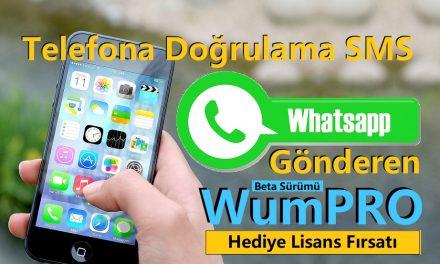 Telefona DoğrulamaSMS WhatsApp'dan GönderenWumPRO